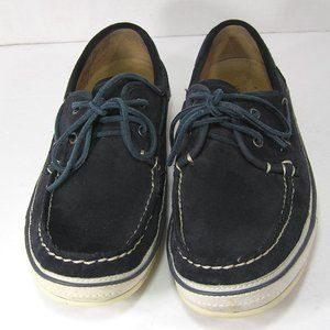 John Varvatos Star USA Navy Suede Boat Shoes 8.5 M